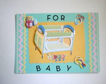New Baby Card - Crib