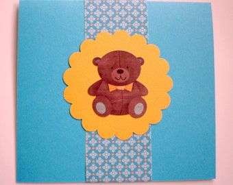 Baby Card - Teddy Bear