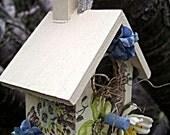 Woodland Chapel Decoupaged Mini Birdhouse