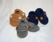 Little Button Loafers. Customize Your Own--You choose color, buttons and size (NB, 0-3, 3-6mos.)