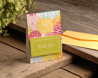 Thank You Notes - Flowered 5 Pack