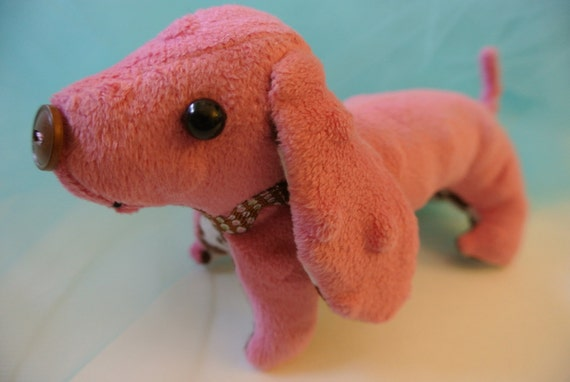 Pinky - Dachshund pink arm wrist rest stuffed animal hot dog Toy