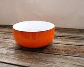Citrus Orange and White Glassware Serving Bowl