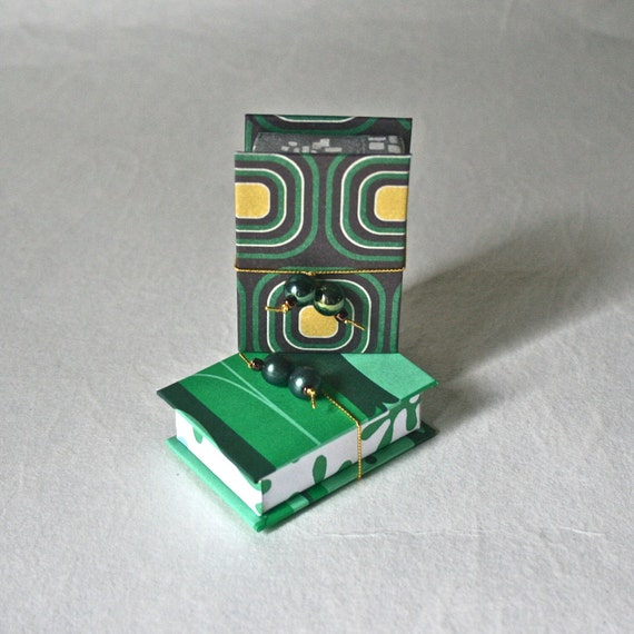 Gift Boxes - Bit Box Pair in Bold Green Patterns