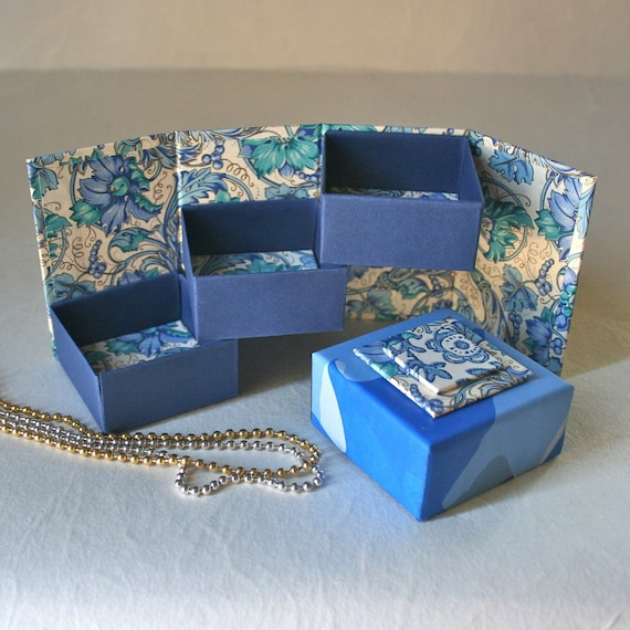 Triptych Gift Box - Shades of Blue - Italian Papers