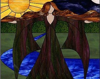 Goddess Gaia Original Stained Glass PATTERN