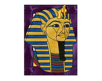 King Tut Stained Glass PATTERN