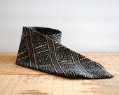 SALE 50% OFF Vintage Necktie by Dot's Los Angeles 1980's - Vintage Tie Batik Print