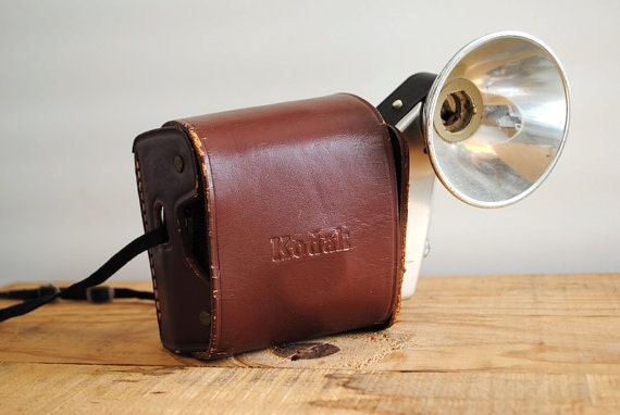 RESERVED FOR H. Vintage Kodak Camera - Kodak Brownie Starmatic with Leather Case