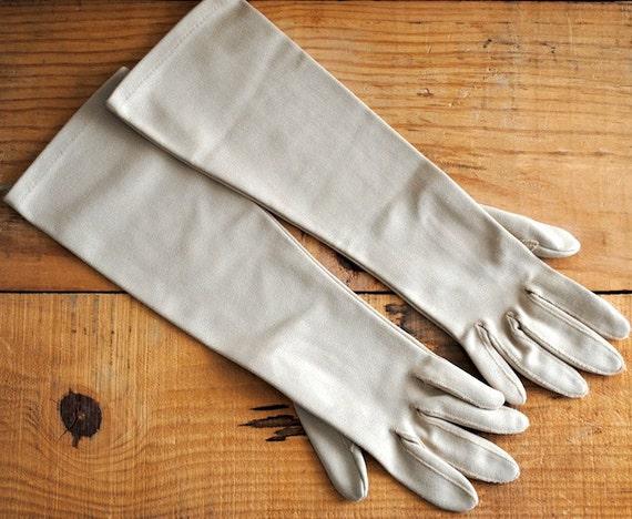 Vintage Opera Gloves Womens Gloves Retro Ladies Gloves Medium