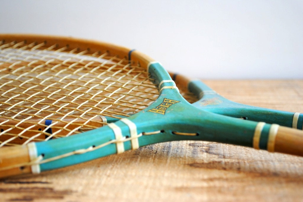 Vintage Badminton Rackets Made In Japan Pair Of By