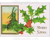 Antique Merry Xmas Greeting Message- download image- 212114