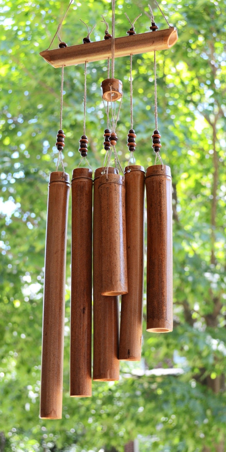 bamboo wind chimes crafted bamboo windchime with hemp and wooden 29065
