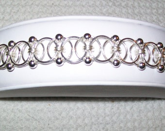 Beaded Helm Chainmaille Bracelet