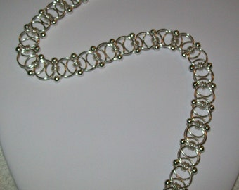 Beaded Helm Chainmaille Necklace
