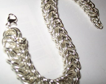 Snake or Box Chainmaille Bracelet