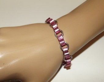 Ribbon Chainmaille Bracelet or Anklet