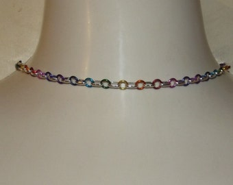 A little touch of rainbow Chainmaille Necklace