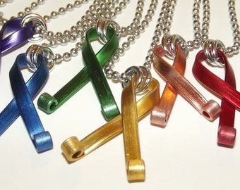Ribbon Awareness Necklace - Pick a color.
