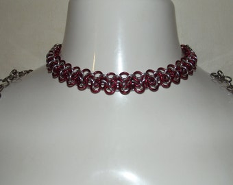 Double Floating Chainmaille Necklace