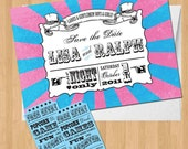 Circus/Carnival Save the Date DIY Set (printable)