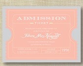 Movie Ticket Vintage Bachelorette Party Invitations DIY Set (printable)