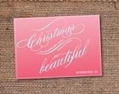 Christmas DIY Holiday Greeting Card - Happy New Year Christmas (printable)
