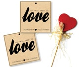 All you need is Love - DIY Personalized Favor Tags (printable) - Wedding/Party