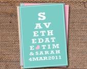 Save the Date Wedding Invitation DIY Set (printable) - Eye Chart