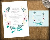 Wedding Invitation and RSVP Response Suite DIY Design (printable)