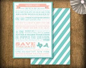 Our Story Save The Date Suite DIY (printable) - Design