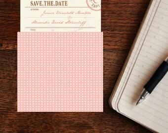 Vintage Library Card Wedding Save The Date DIY Set (printable)
