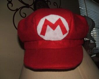 "handmade """"Super Mario Bros."""" felt  newsboy hat"