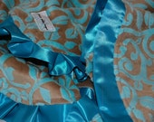 Mar Bella Granada Minky Baby Blanket- Marina