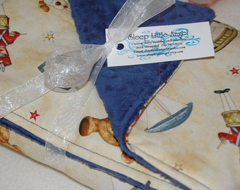 Minky Baby Blanket -Vintage Toy Shop-READY TO SHIP