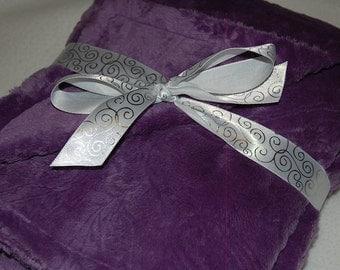 Minky Baby Blanket- Purple Paisley