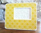 Yellow Quatrefoil Picture Frame