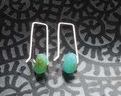 Modern Geometric Peruvian Opal Earrings October Birthstone