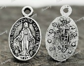 100 Tibet Tibetan Silver Virgin Mary Charms Pendants European 17.5x10mm TS1553