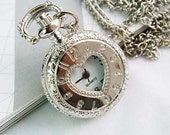 1pcs Silver plated   Watch Charms Pendant with chain ty142940