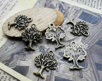 20pcs -16X22mm  Trees  Charm Pendant -Antique Bronze  -Charms Pendant Necklace pendants, Jewelry pendants,Bracelets ,Ring Fittings