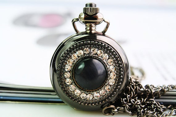 1pcs mirror   Watch Charms Pendant with chain ty144438