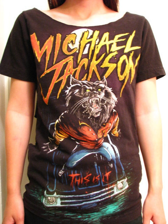 Michael Jackson Shredded This Is It Werewolf Shirt