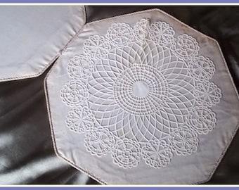 Vintage Doily :  Rare Silk  Doily Case / Holder - Spelled after The Creator Mr. D'oyley, Storage Case