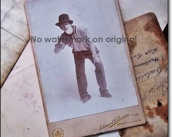 Vintage Photo : Original Vintage Large Studio Photo Cabinet Card -The Actor Part 2