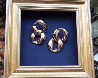 Vintage Earrings : Swinging SixtiesGlamour, 2 Pairs of 1960s High Fashion London Scene Earrings