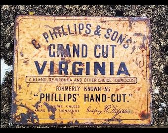 Vintage Tin, Vintage Tobacco Tin : GODFREY PHILLIPS Grand Cut 1lb Tobacco Tin, Vintage Box