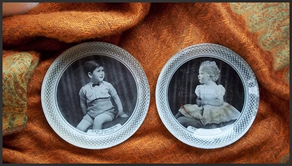 Royal Memorabilia : Sweet Young Prince & Princess  Pin dishes