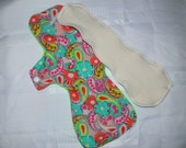 Postpartum Mama Cloth Pad bright floral