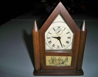Vintage Burroughs Steeple Alarm Clock Made 1925-1935